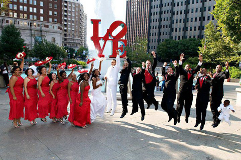 Love Park Bridal Photo